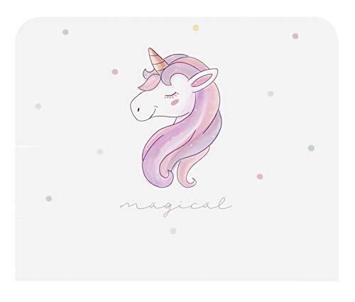 Miroytengo Cabecero Infantil Unicorn con impresión Decorativa de Unicornio y Topos de Colores habitación Juvenil 110x90 cm