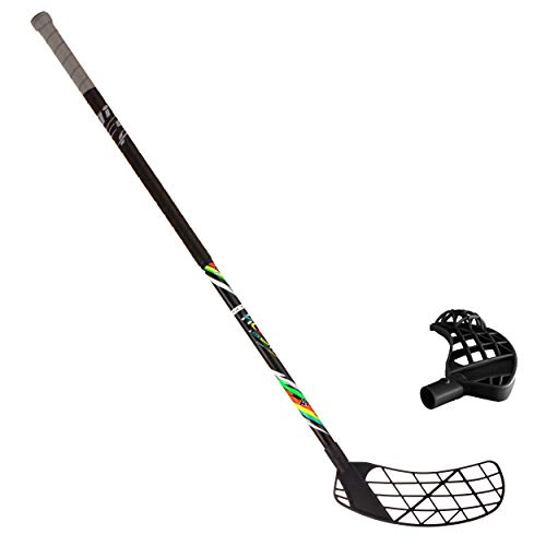 ACCUFLI Floorball Sticks AirTek A80 (Black-Right Handed-Combo)