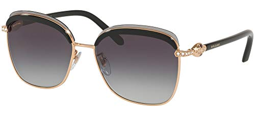 Bvlgari Occhiali da Sole Serpenti BV 6112B Rose Gold/Grey Shaded Donna