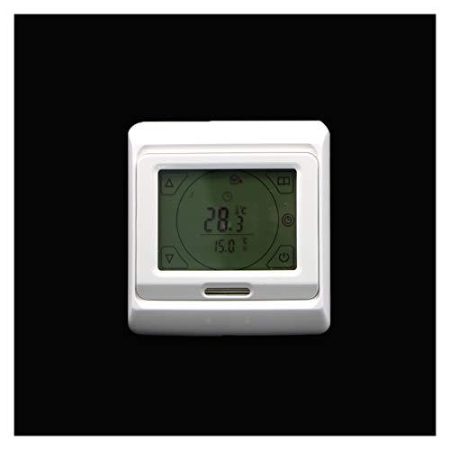 Controladores de temperatura de visualización digital Controlador de temperatura, LCD Programable Habitación digital Calefacción Calefacción Termostato Touch Pantalla Táctil Termado Instrumento de pis