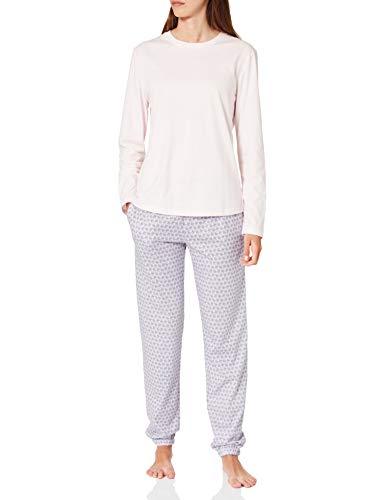Seidensticker Damen Jersey lang Pyjamaset, zartrosa, 36