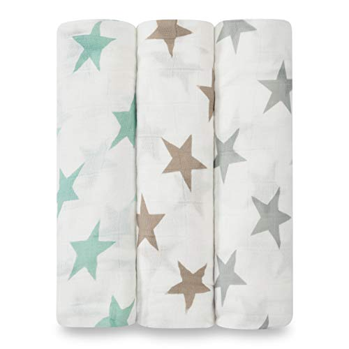 aden + anais silky soft swaddles milky way 120 x 120cm 3 pack ,9207G