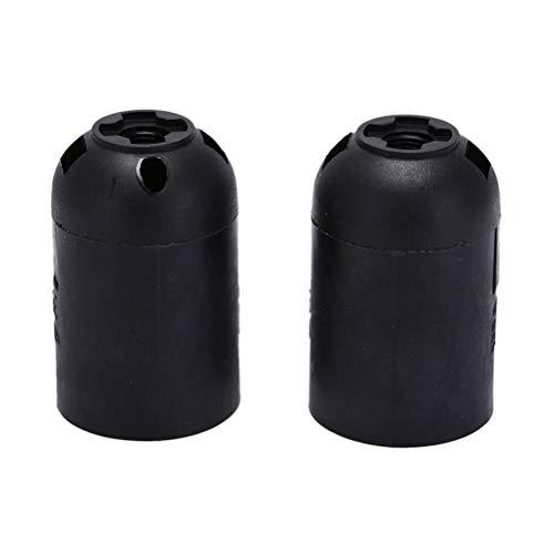 Base de bulbo 2 piezas de E27 M10 zócalo de la base de la lámpara de cuello de sombra separador portalámparas de la lámpara con interruptor on/off Tornillo convertidor Negro Blanco (Color : Black)