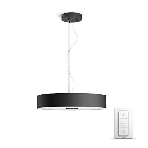 Philips Hue Fair Suspension Luminaire Noire White Ambiance 39W [Interrupteur avec Variateur...
