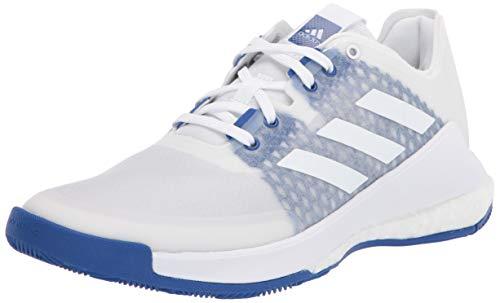 adidas Crazyflight W, Zapatillas Deportivas. Mujer, FTWR Weiss Team-Casco de Ciclismo, Color Blanco y Azul, 43.5 EU