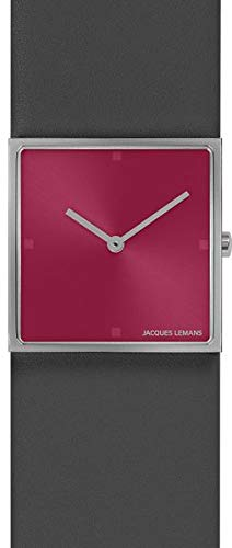 Jacques Lemans Damen-Uhren Analog Quarz One Size Grau/Pink 32016506