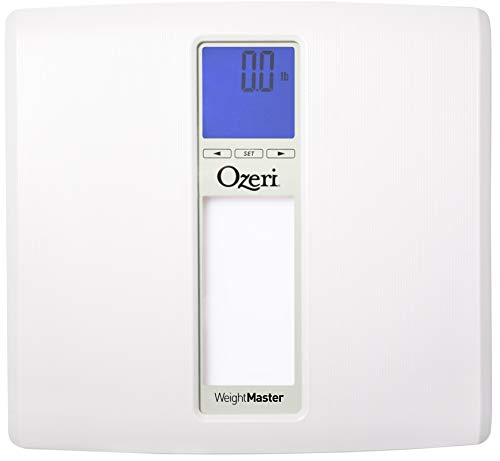 Báscula Digital de Baño WeightMaster II 200 kg de Ozeri con IMC y Detección de Cambio de Peso (Blanco)