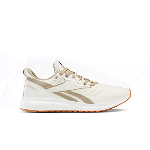 Reebok Women's Forever Floatride Grow Running Shoe - Color: Classic White/Straw/Super Neutral - Size: 6 - Width: Regular