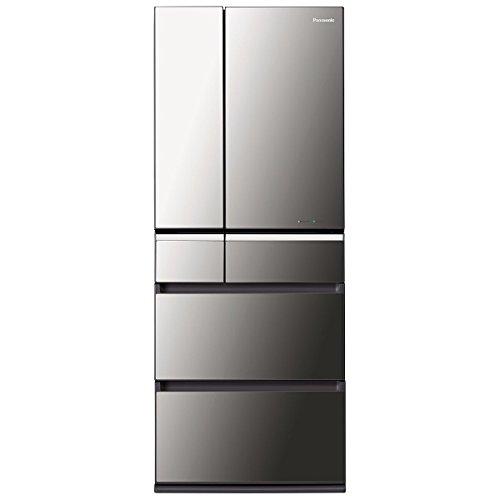 パナソニック 474L 6ドア冷蔵庫(オニキスミラー)Panasonic ナノイー エコナビ NR-F471XPV-X