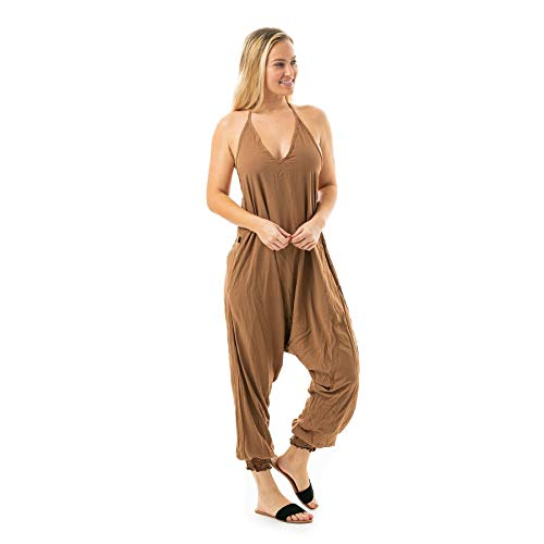 Buddha Pants Solid Harem Jumpsuits Black