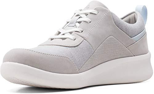 Clarks Sillian 2.0 Kae, Zapatillas para Mujer, Textil Gris Claro, 40 EU
