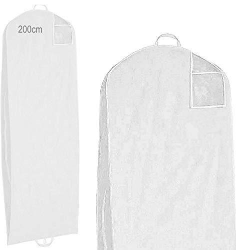 Made in EU 200cm - XXL - Kleiderhülle - atmungsaktiv - Vlies- Kleidersäcke Brautkleid