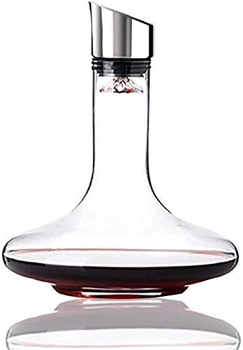 GXYtable cloth Whisky decantador Vino decantador Vino decantador Creativo Cascada Vidrio decantador Rojo Vino rápido Decanter Malla Filtro 1700 ml Vino decantador aireador