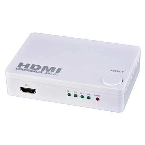 OHM 4ポート HDMIセレクター 白 AV-S04S-W