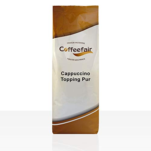 Coffeefair Cappuccino Topping Pur 750g | Automatengängiges Milchpulver, Instant