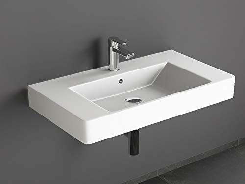 Aqua Bagno Design Waschbecken aus Keramik Waschtisch Hängewaschbecken KP.80 | 80 x 45 cm
