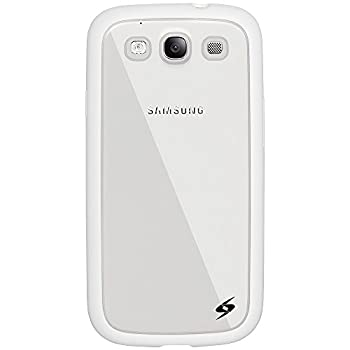 Amzer SlimGrip Hybrid Back Case Cover for Samsung GALAXY S3 - Retail Packaging - White