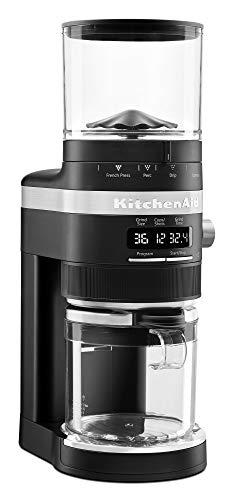 KitchenAid KCG8433BM Burr Coffee Grinder, 10 oz, Black Matte