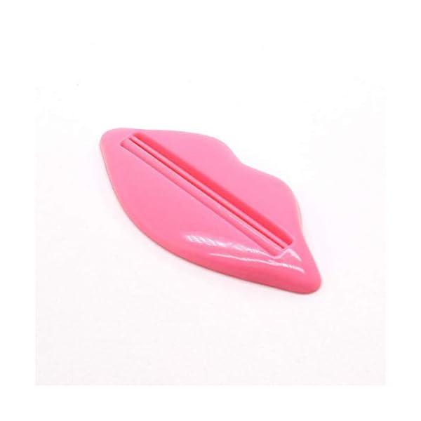 Xinlie 10 Piezas Dispensador Pasta Dientes Lip Forma Exprimidor de Tubos