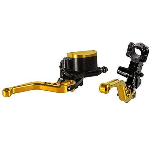 Palancas de freno Universal 7/8'22mm Hidráulico Master Cilindro FLUIDO de la palanca de fluidos de la palanca de la palanca de la palanca de la manija del embrague para la motocicleta por encima de 8