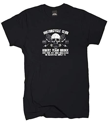 Wolkenbruch® T-Shirt Motorcycle Club Bronx Biker, schwarz, Gr.L