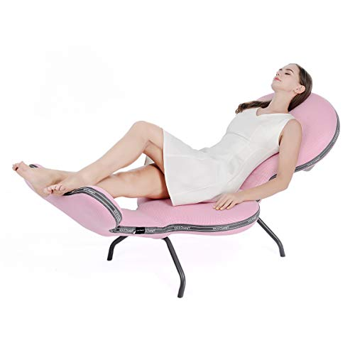 XiXi&Chuangyi Chaise Lounge Chair Lazy Chair Couch Sofa Folding Adjustable Recliner for Indoor Family Leisure, Reading in the Study, Lunch break, Sun Lounger Outdoor Backyard, Garden, etc (Pink)
