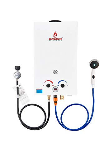 GASZON GB264 2.64GPM 10L Outdoor Portable Gas Water Heater,Tankless Gas Water Heater, Instant