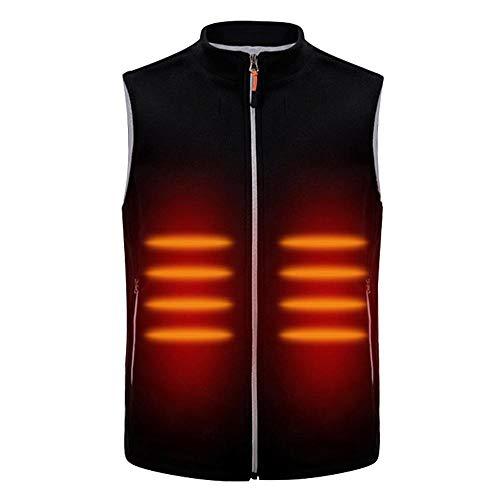 Beheizte Weste, Leichtgewicht Bodywarmer Weste, waschbare elektrische Wärmeweste Heizung Warme Jacke mit USB Einsatz für den Winter Skifahren Wandern Reisen Angeln (XL)
