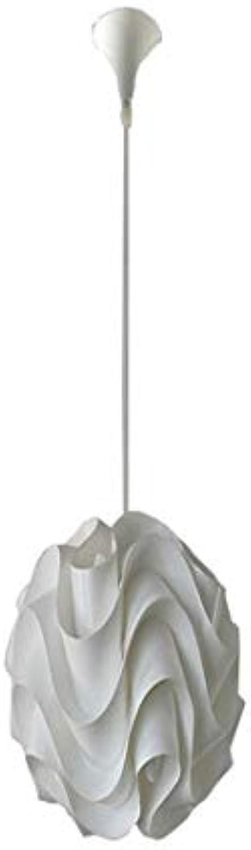 Vintage Kronleuchterkronleuchter, Weie Pvc-Zyklus 23 Cm Wasser Wellig E27 Led Deckenbeleuchtung Energiesparbudget Beleuchtung