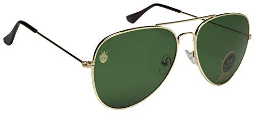La Victorie Aviator UV Protected Unisex Green Sunglasses