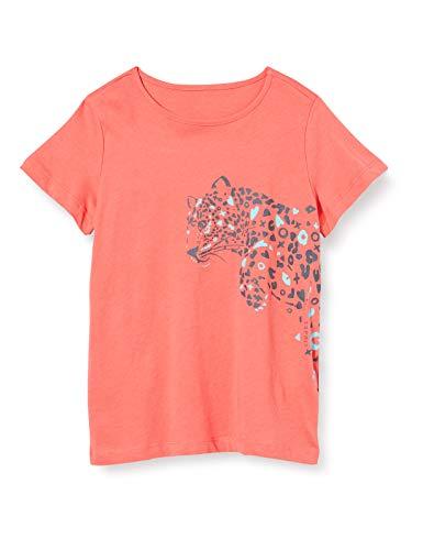 ESPRIT KIDS Mädchen RQ1035303 SS T-Shirt, Rosa (Coral 323), (Herstellergröße: 128+)