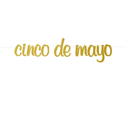 Cinco De Mayo Banner Garland Sign, Gold Glitter Birthday Taco Bout Love, Let's Fiesta, Taco Bar, Mexican, Cactus Party Decorations, Derby Bridal Shower Banner