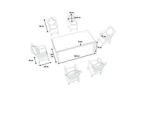 Polyrattan Gartenmöbel-Set Bild 2*