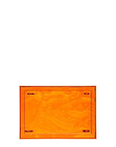 Kartell Plateau Dune Petit, Plastique, Orange, 46 x 32 x 2.5 cm