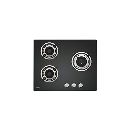 KAFF CRH 603 Built in Hob | Tornado Fire Burners | Auto Electric Ignition| Black Tempered Glass