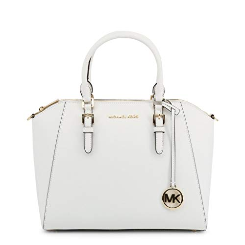 Michael Kors - Ciara grande, in pelle Saffiano, Bianco (Optic White), Large