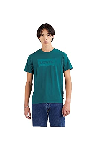 Levi's Housemark Graphic tee Camiseta, Green (Ssnl Hm Garment Dye Forest Biome), Large para Hombre