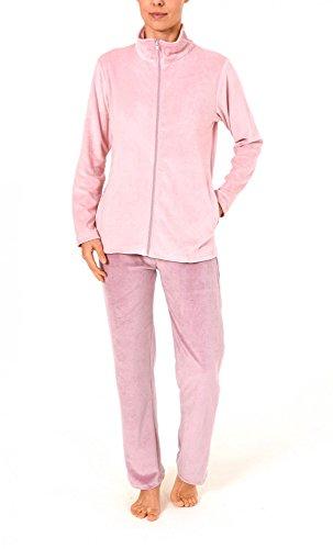 Damen Hausanzug Homewear Nicky Velvet - 57678, Größe:40/42;Farbe:Altrose