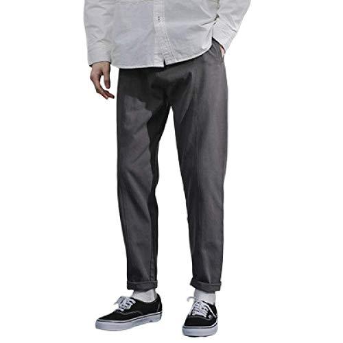 Pantalon de Jogging de Couleur Unie pour Hommes Pantalon de Sport Taille élastiquée Slim Fit Pantalon de survêtement décontracté à la Cheville Bas de Jogging