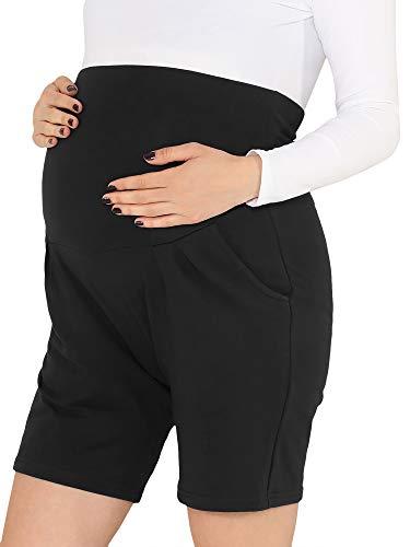 Be Mammy Leggings Premaman Corti BE20-234(Nero, XL)