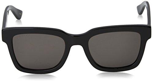 Fashion Shopping Gucci Fashion Sunglasses, 52/21/145, Black / Smoke / Black