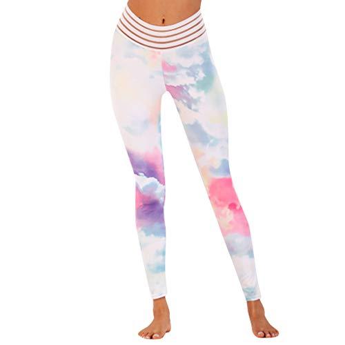 Fossen MuRope Pantalones Mujer Deporte Baratos con Estampado Colorido Moda - Leggings...
