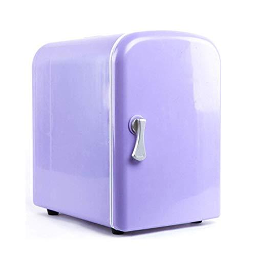 GHJA Refrigerador para automóvil 4L portátil, Compacto, Voltaje de Entrada Dual 12V / 220V, congelador frío y Caliente, (195x260x280mm)