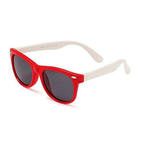 PPuujia Gafas de sol polarizadas con protección UV para niños, gafas de sol polarizadas, gafas de sol para niñas y niños, gafas retro (color: JY82 HE funda para coche C4)