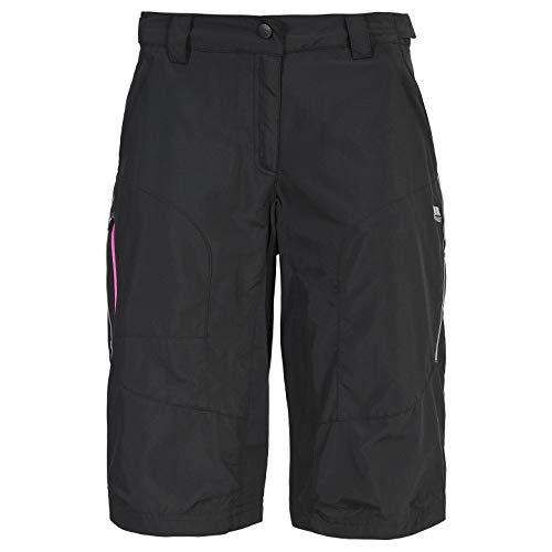 Trespass Sinem, Black, M, Schnelltrocknende Fahrradshorts mit UV-Schutz für Damen, Medium, Schwarz