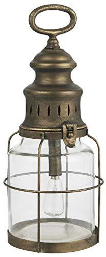 IB Laursen - LED-Laterne, Lampe - Metall/Glas - Gold - 13 x 31 cm
