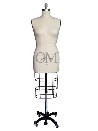 Female Professional Dress Form Mannequin with Collapsible Shoulders Size 16 (Made By OM®) (Collapsible Series)