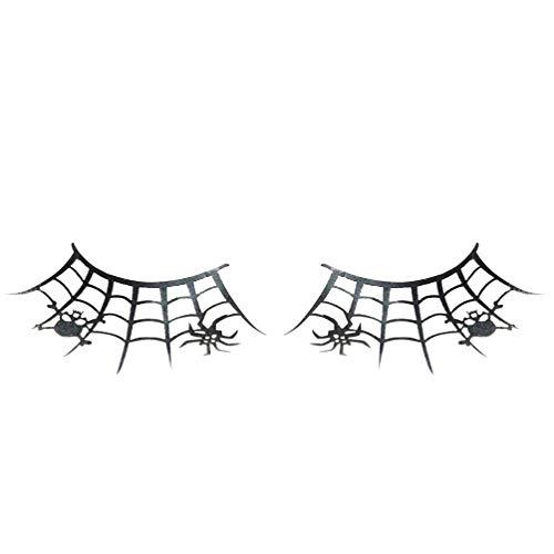 SUPVOX toile d'araignée couronne papier noir cils faux cils pour les femmes costume d'halloween 1 paire