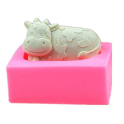 Silikonformen Backformen Diy Silikon Backen 3D Tier Kuh Kuchenform Fondant Silikonform Handgemachte Seife