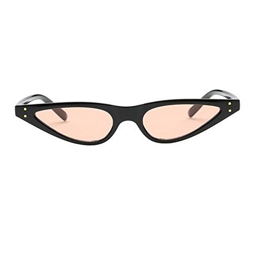 Bonarty Gafas de Sol Retro para Mujer Gafas de Ojo de Gato Gafas de Diseñador de Moda Tonos UV400 - Estilo 6
